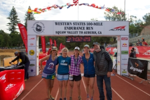 Burke and her Western States crew